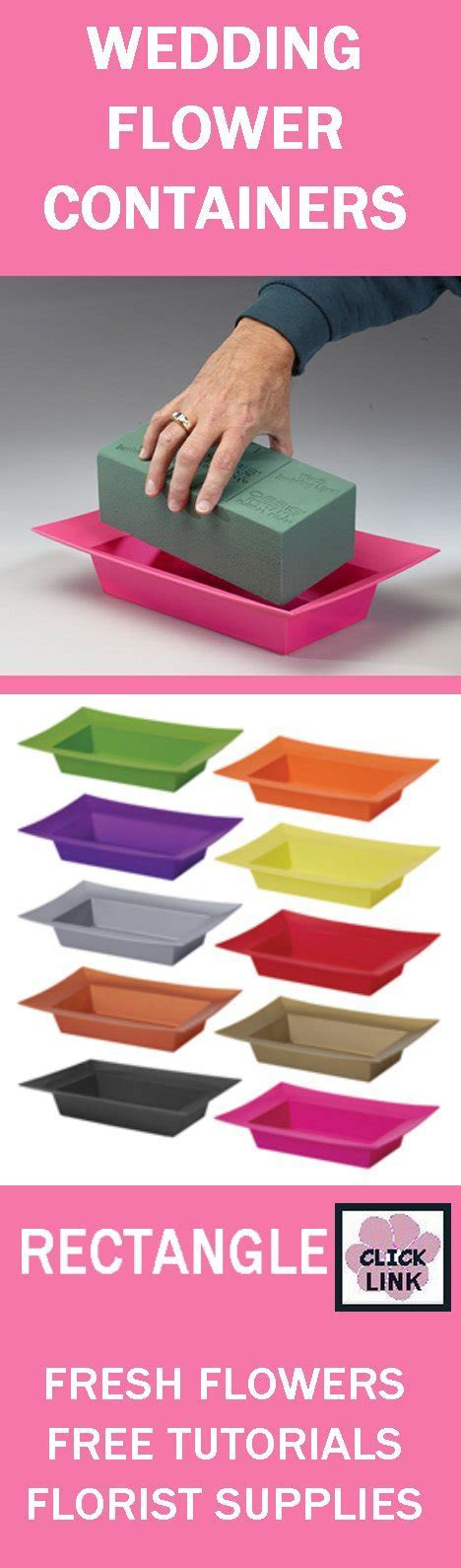 Professional Floral Supply   Rectangle Flower Containers