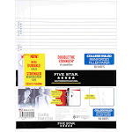Five Star Reinforced Filler Paper, College Ruled - 100 sheets