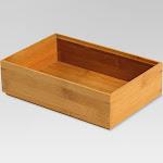 Bamboo Rectangular Drawer Organizer - Threshold , Adult Unisex, Brown