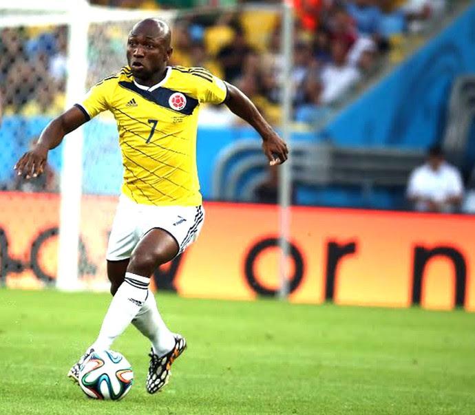 Armero jogo Colômbia x Uruguai Copa (Foto: André Durão / Globoesporte.com)