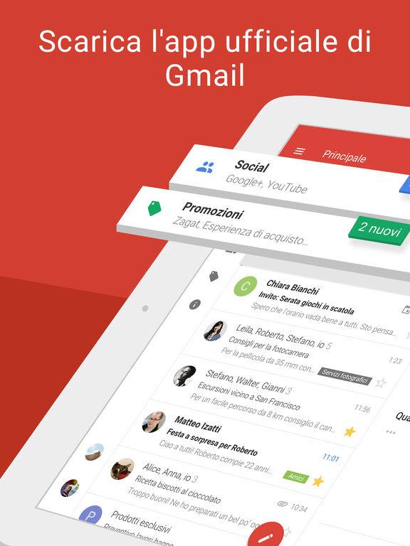 Gmail: l'email di Google si aggiorna alla vers 5.0.180311