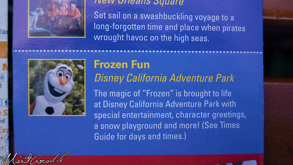 Disneyland Resort, Disneyland, 2015, Guide, Map, Frozen