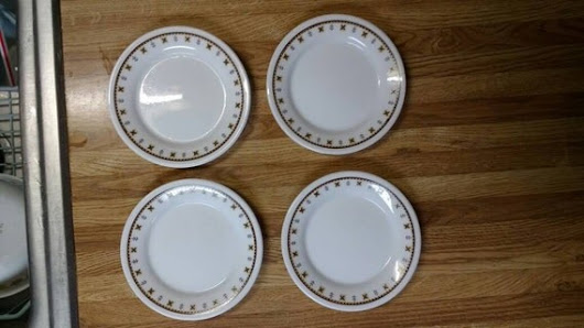 Comcor By Corning Nebula Pattern Butter Dishes Tableware