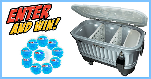 Win this light-up Igloo Cooler on Wheels!  Sponsored by Fire & Ice Therapy Packs
