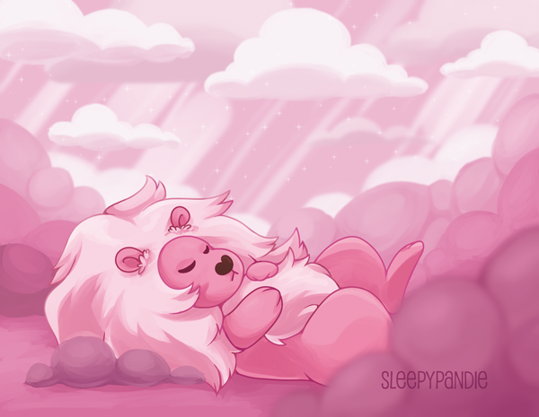It's been a while since I did a full size print >w< I really love this show and the cloud room is super beautiful <3 Lion is my favorite character! available as a print: sleepypandie.etsy.com