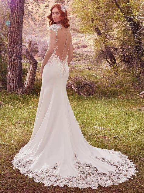 Odette (Ivory) (7MC398MC) ace Crepe Wedding Dress by