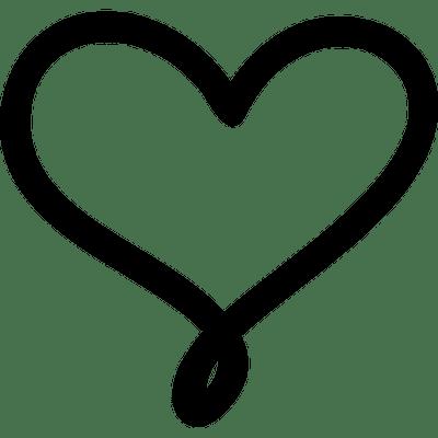 Contorno De Corazón Negro Amor Png Transparente Stickpng