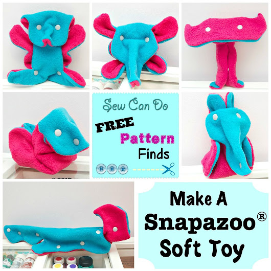 Free Pattern Finds:  The Snapazoo Soft Toy