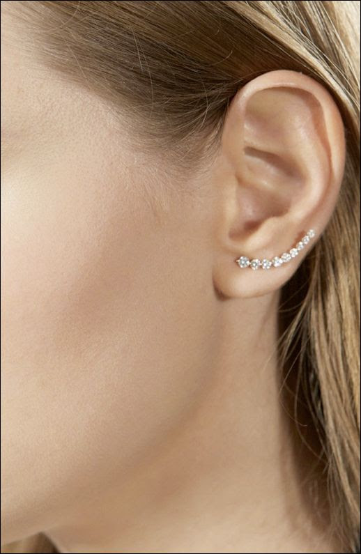 LE FASHION BLOG JEWELRY CRUSH ANITA KO FOR TIBI COLLECTION FLOATING ROSE GOLD DIAMOND EARRING RIGHT OR LEFT