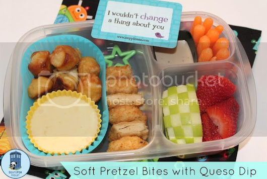 Soft Pretzel Bites with Queso Dip