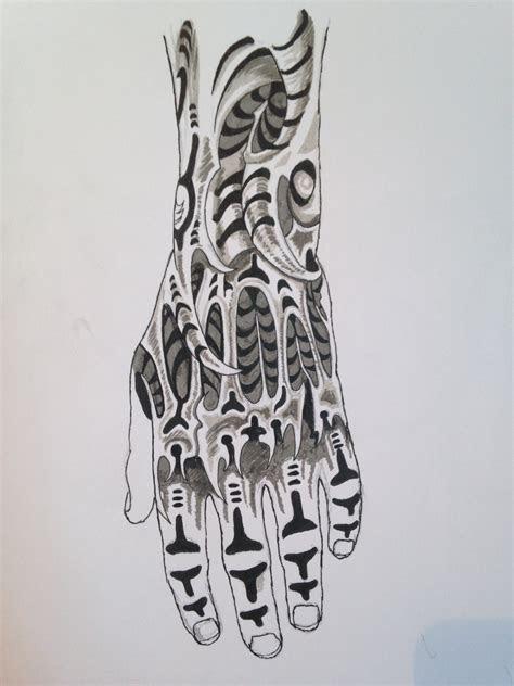 hand tattoo sketch matt molloy art