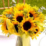 Wedding Table Centerpiece Sunflowers 3 Wholesale by GlobalRose