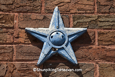 Star-Shaped Anchor Plate, Bonaparte Post Office, Van Buren County, Iowa