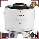 Canon Extender EF 2X III (Intl Model) + 3 Pcs Filter Kit + Cleaning Kit