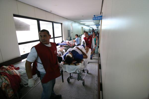 Ontem, 119 pacientes estavam nos corredores, dos quais 29 aguardavam cirurgia ortopédica