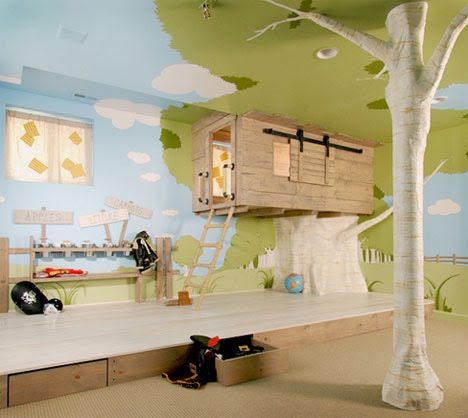 Room Design  Kids on Awesome Bedroom Treehouse For Kids