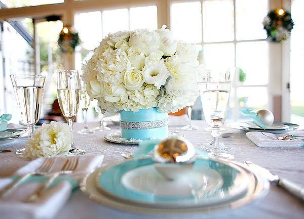 Tiffany Blue Wedding Table Settings Tiffany Blue Table Setting