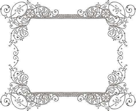 Vintage clipart borders   Pencil and in color vintage