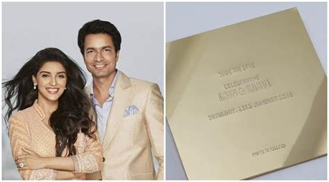 Asin and Rahul Sharma?s wedding card, a look