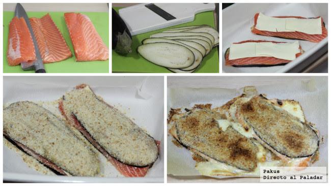 Salmon Berenjenas Pasos