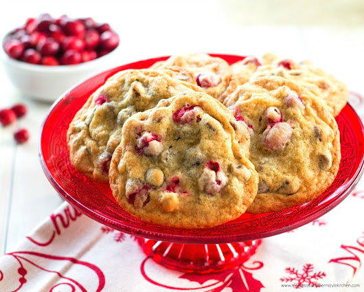 Crazy Delicious Cranberry Walnut Chocolate Chip Cookies