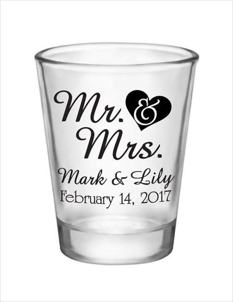 Wedding Favors Shot Glasses Mr. & Mrs. Heart New 2017 2018