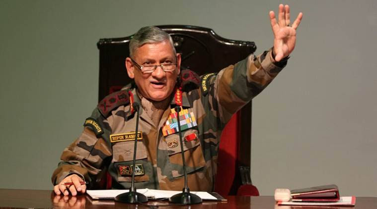 indian army, General Bipin Rawat, Bipin Rawat on Northeast, immigration, indian army chief, aiudf, assam, Bipin Rawat on aiudf, illegal immigration in northeast states, indian express