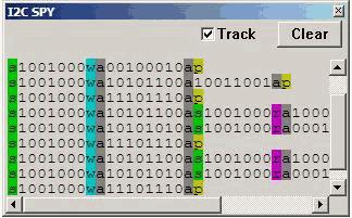 Dữ liệu lệnh địa chỉ gián điệp i2c