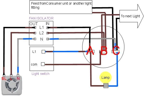 Wiring Diagram For A Shower Rcd : Bath light fan heat wiring diagrams fans