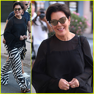Kris Jenner Steps Out in Zebra-Print Pants in Saint-Tropez