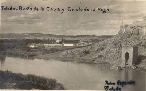 Baño de la Cava a principios del siglo XX. Fotografía de Pedro Esparón