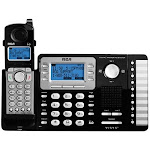 RCA - RCA-25252 ViSYS DECT 6.0 Expandable Cordless Phone System with Digital Answering System - Black/silver