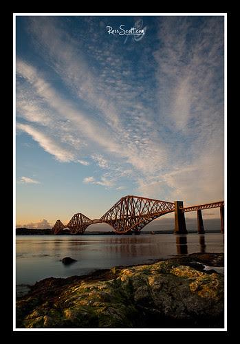 Rail Bridge Golden light. by rosscosqf