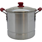 IMUSA 20qt Tamale Steamer with Ruby Red Handle