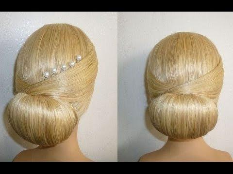 Frisur Mit Duttkissendutthochsteckfrisurabiballfrisurdonut Hair