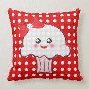 Cute Kawaii Cupcake Pillow mojo_throwpillow