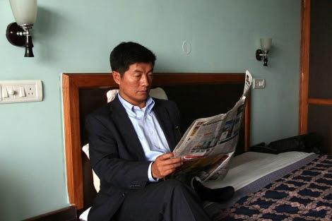 Lobsang Sangay, días antes del inicio de la campaña electoral. | Reuters