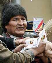Bolivian President Evo Morales won a referendum to adopt reforms in the Latin American state on October 21, 2008. The South American country has been subjected to US destabilization efforts. by Pan-African News Wire File Photos