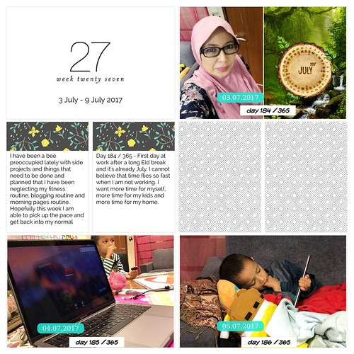 Project Life Pages Week 27 - Week 29