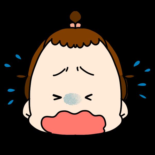 泣いた顔のイラスト かわいいフリー素材が無料のイラストレイン
