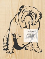 Bulldog Sitting Scrollsaw Pattern - fee plans from WoodworkersWorkshop® Online Store - bulldogs,pets,animals,yard art,painting wood crafts,scrollsawing patterns,drawings,plywood,plywoodworking plans,woodworkers projects,workshop blueprints