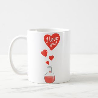 Flask of Hearts Geek Valentine's Day mug