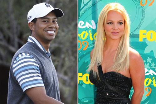 El golfista Tiger Woods y la cantante Britney Spears,  quinto y  sexta del ranking