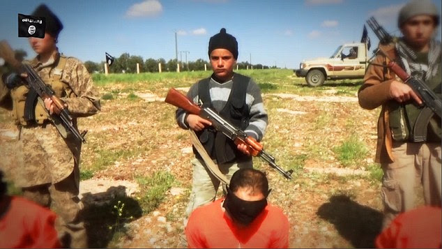 Sick: The attack comes just days after an ISIS video showed children taking centre stage in the latest beheading video, which was alsofilmed in the province of Hama
