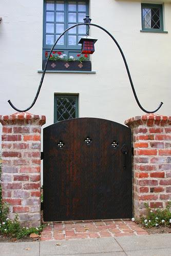 tudor gate and arch