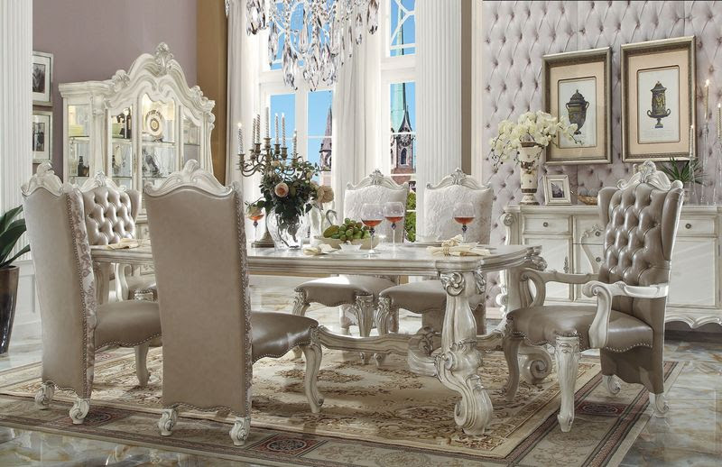 Dallas Designer Furniture | Versailles Formal Dining Room Set in White