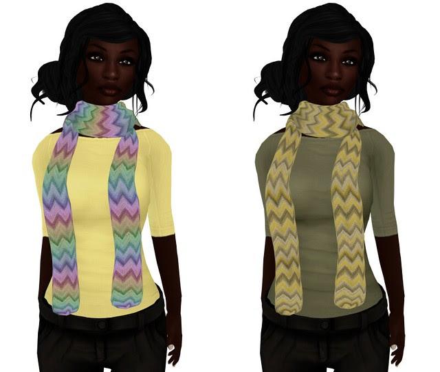 Mock free scarves + 1L skin