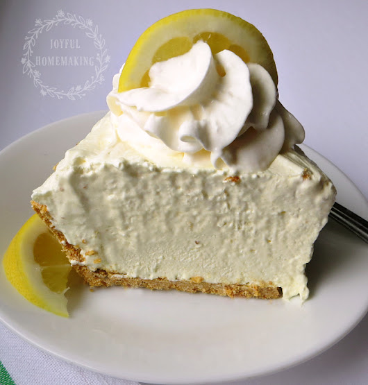 Icebox Lemon Pie - Joyful Homemaking