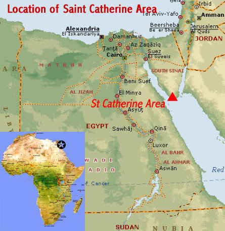 Image result for st catherine's monastery sinai map