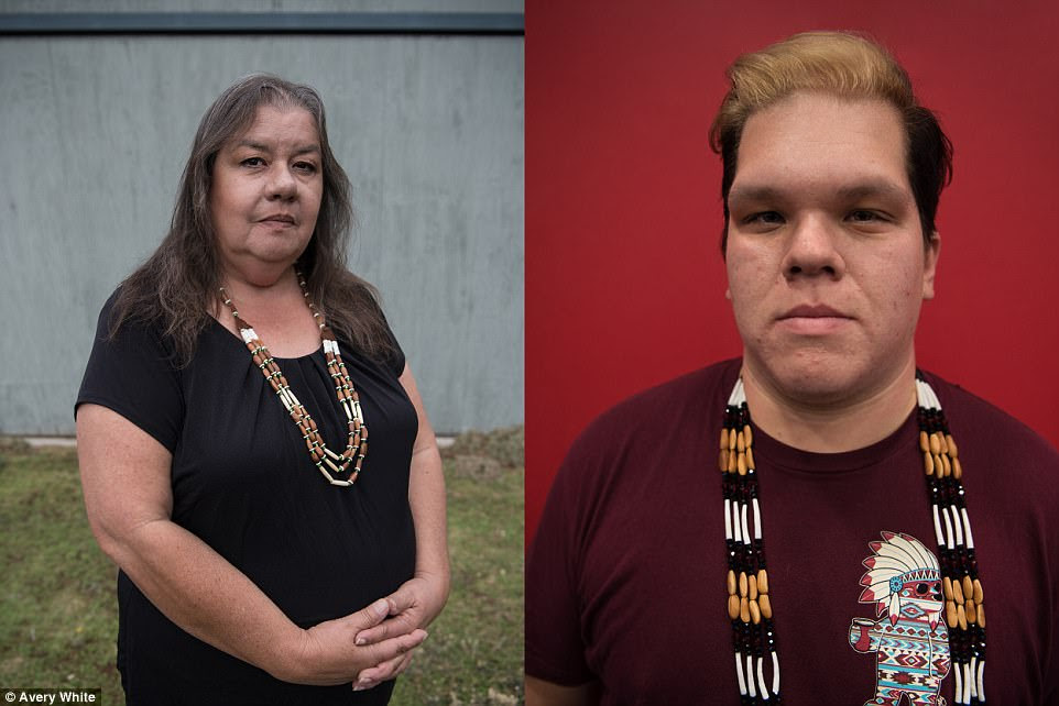 Tribe members Sarah Thomas (left) and Clyde Prout (right)